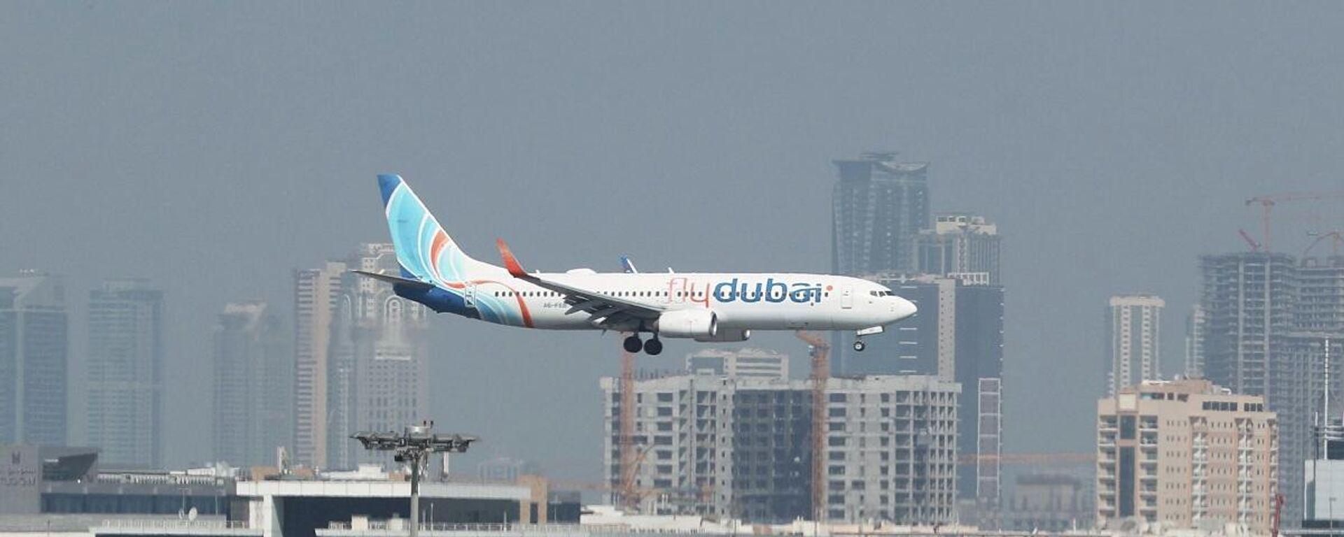 Boeing 737-800 de la aerolínea de los Emiratos Árabes Unidos Fly Dubai  - Sputnik Mundo, 1920, 16.05.2021