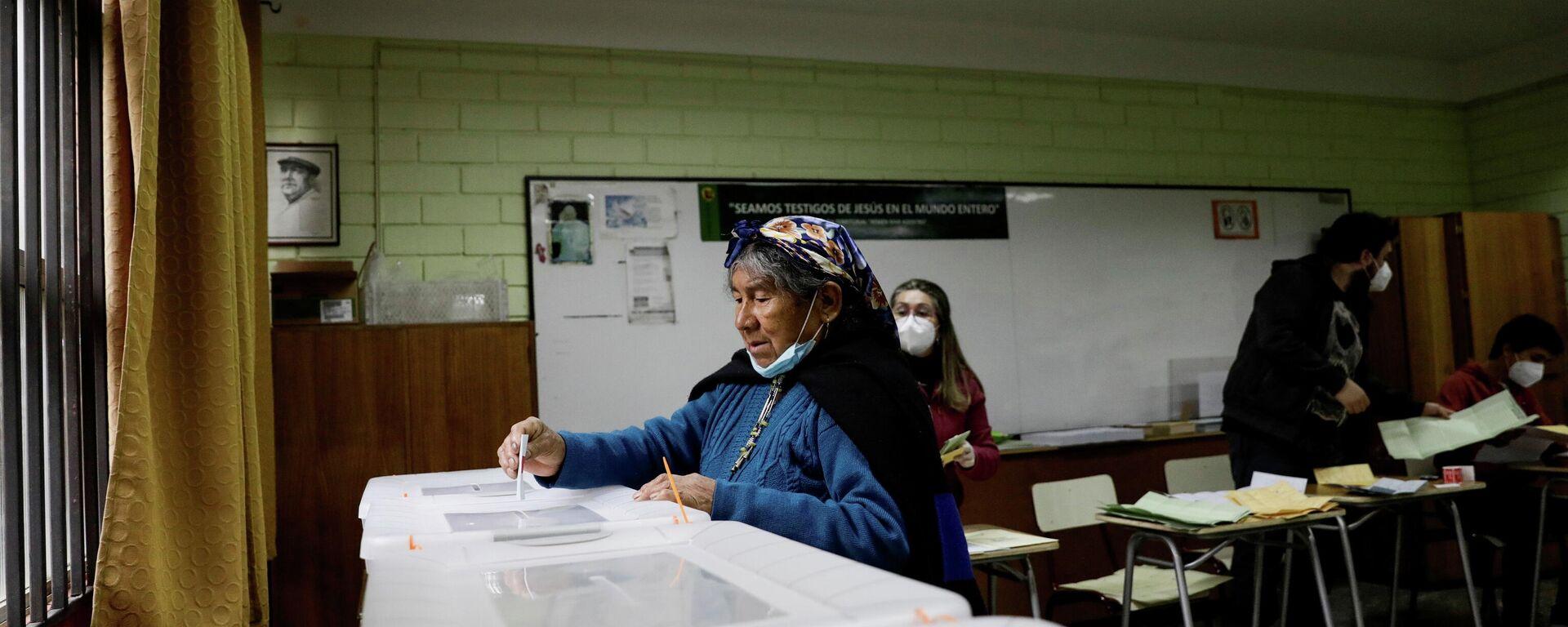 Votación en Chile - Sputnik Mundo, 1920, 16.05.2021