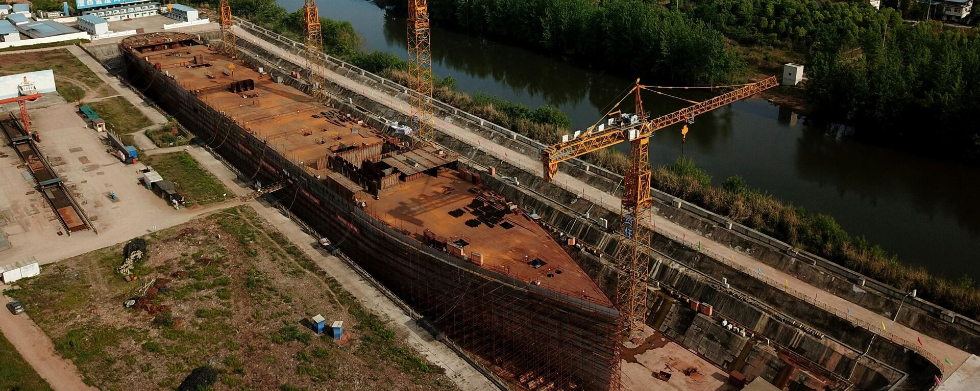 La construcción de la réplica del Titanic en China - Sputnik Mundo, 1920, 17.05.2021