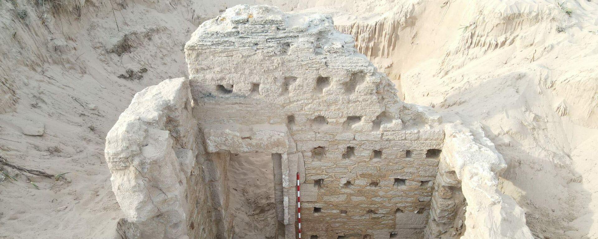 Fachada de una de las habitaciones del balneum romano de Cádiz - Sputnik Mundo, 1920, 19.05.2021