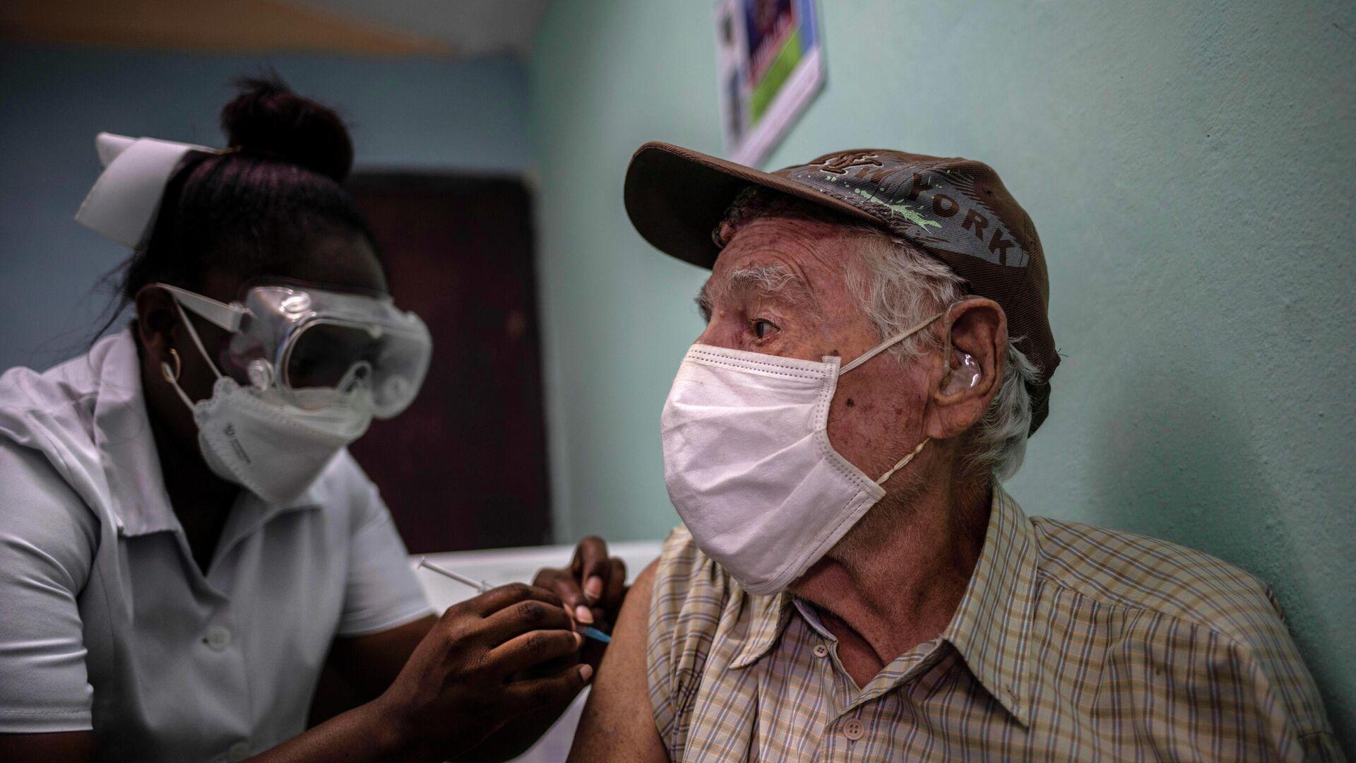 Vacunación en Cuba con la vacuna cubana anti-COVID Abdala - Sputnik Mundo, 1920, 01.09.2021