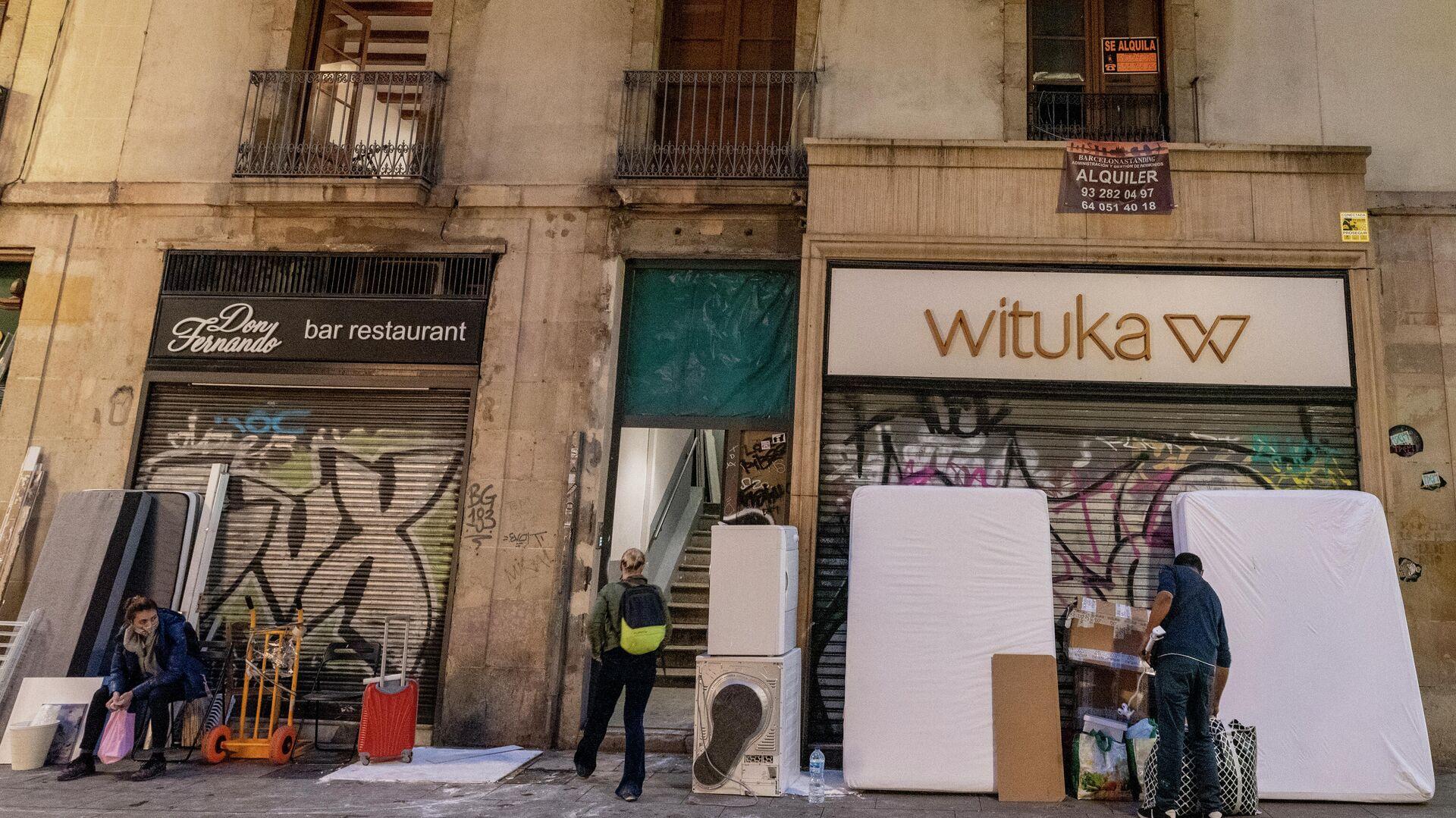 Locales cerrados del centro de Barcelona - Sputnik Mundo, 1920, 18.05.2021