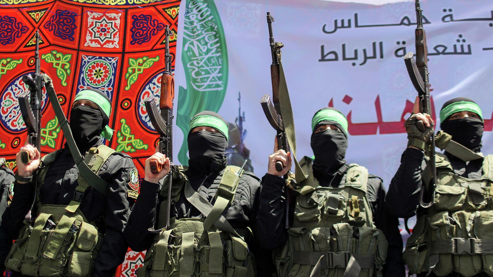 Militantes del movimiento Hamás - Sputnik Mundo, 1920, 19.05.2021