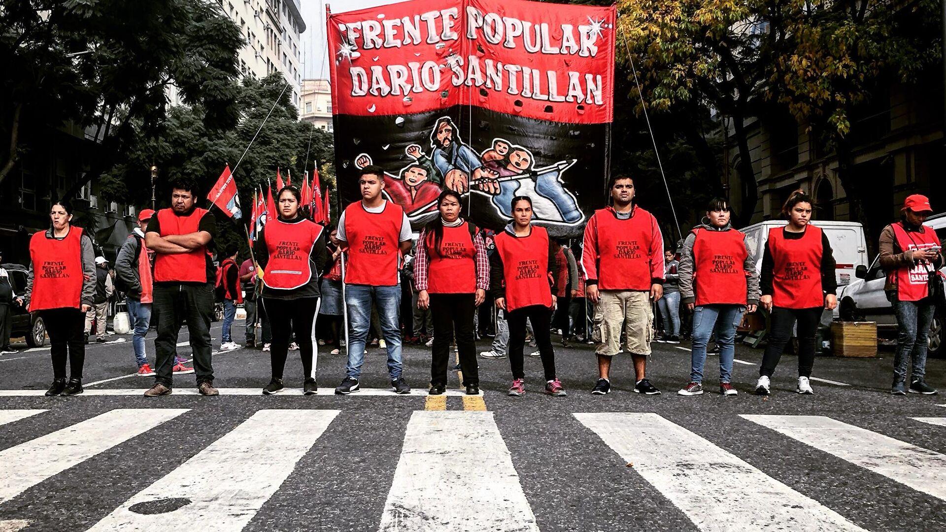 Militantes del Frente Popular Darío Santillán (Argentina) - Sputnik Mundo, 1920, 20.05.2021