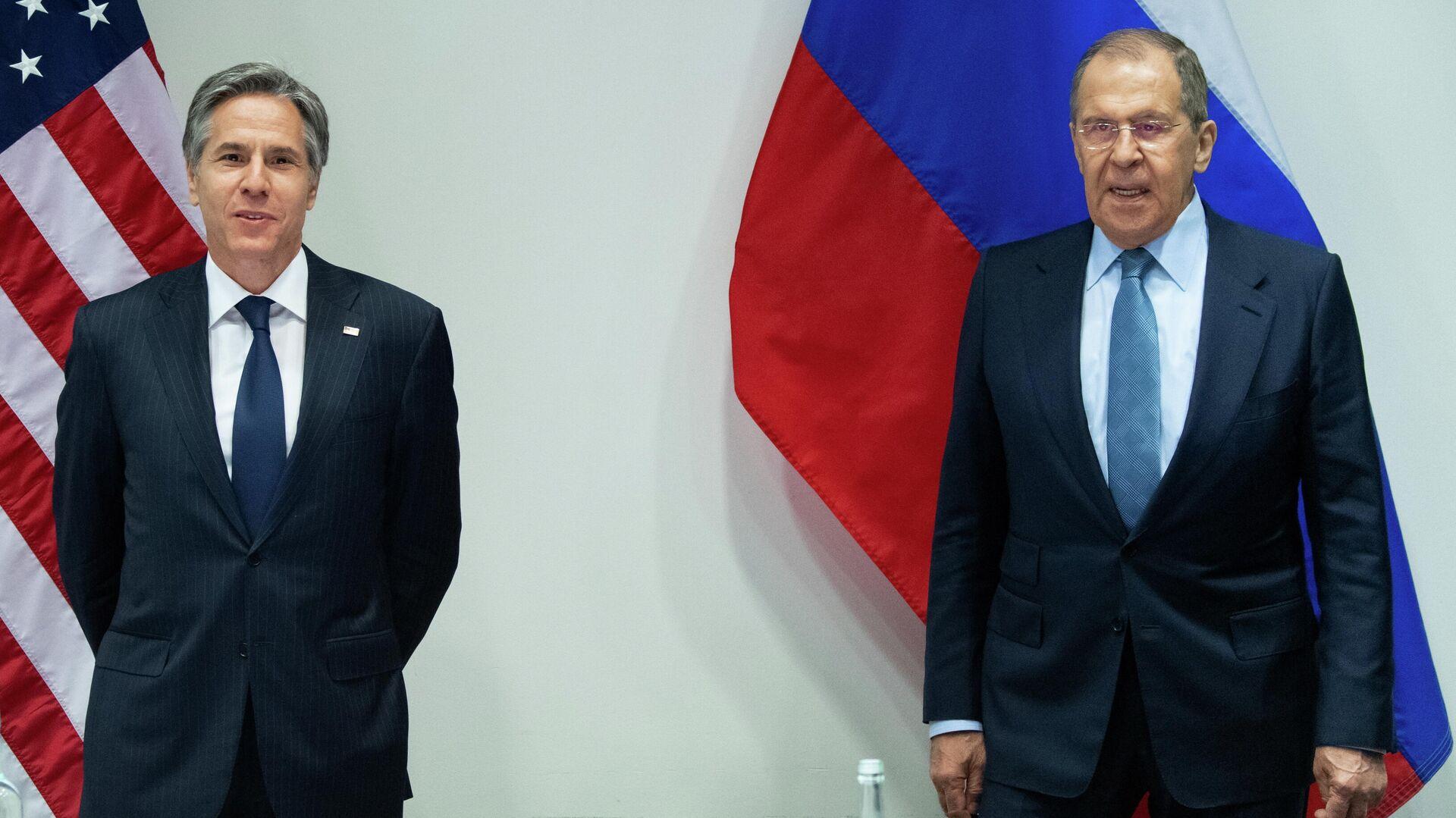 Secretario de Estado de EEUU, Antony Blinken, y ministro de Exteriores ruso, Serguéi Lavrov - Sputnik Mundo, 1920, 20.05.2021