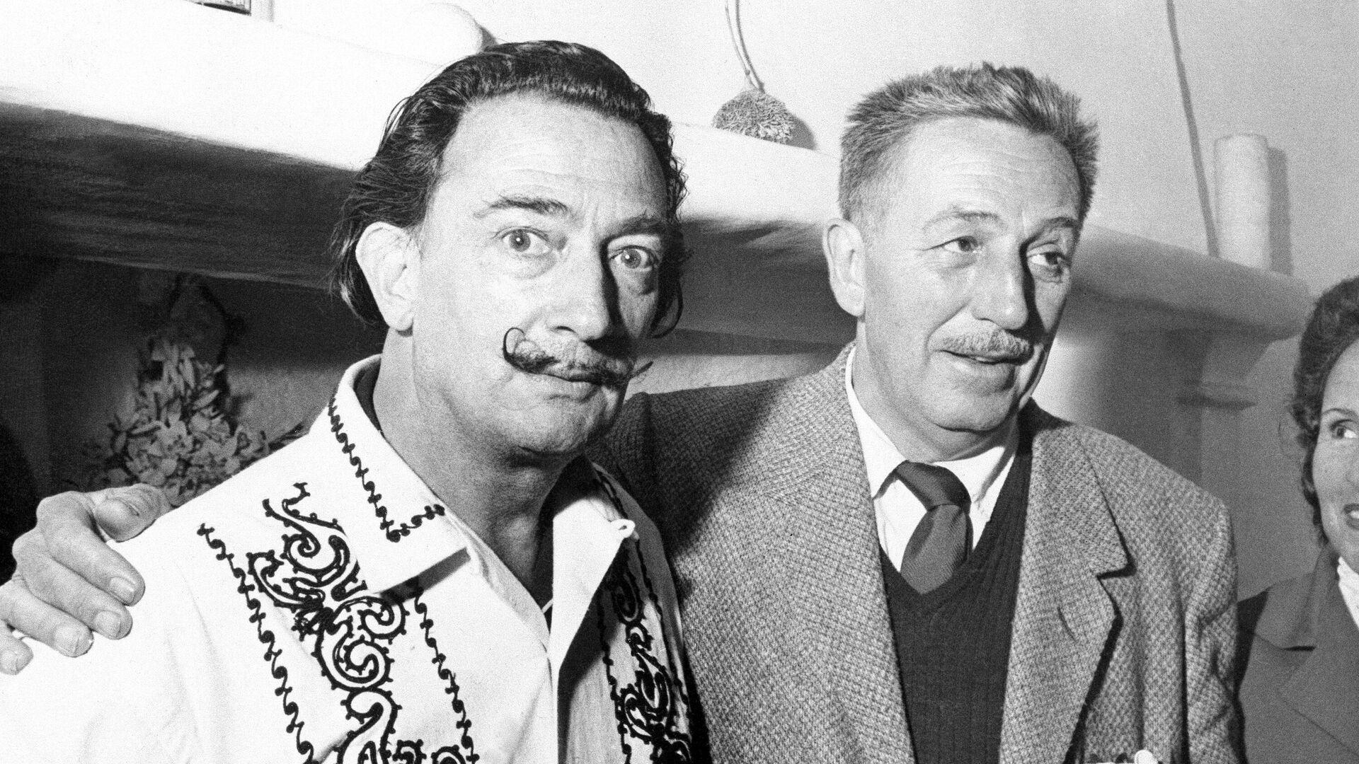 Walt Disney junto a Salvador Dalí en Cadaqués (España) - Sputnik Mundo, 1920, 20.05.2021