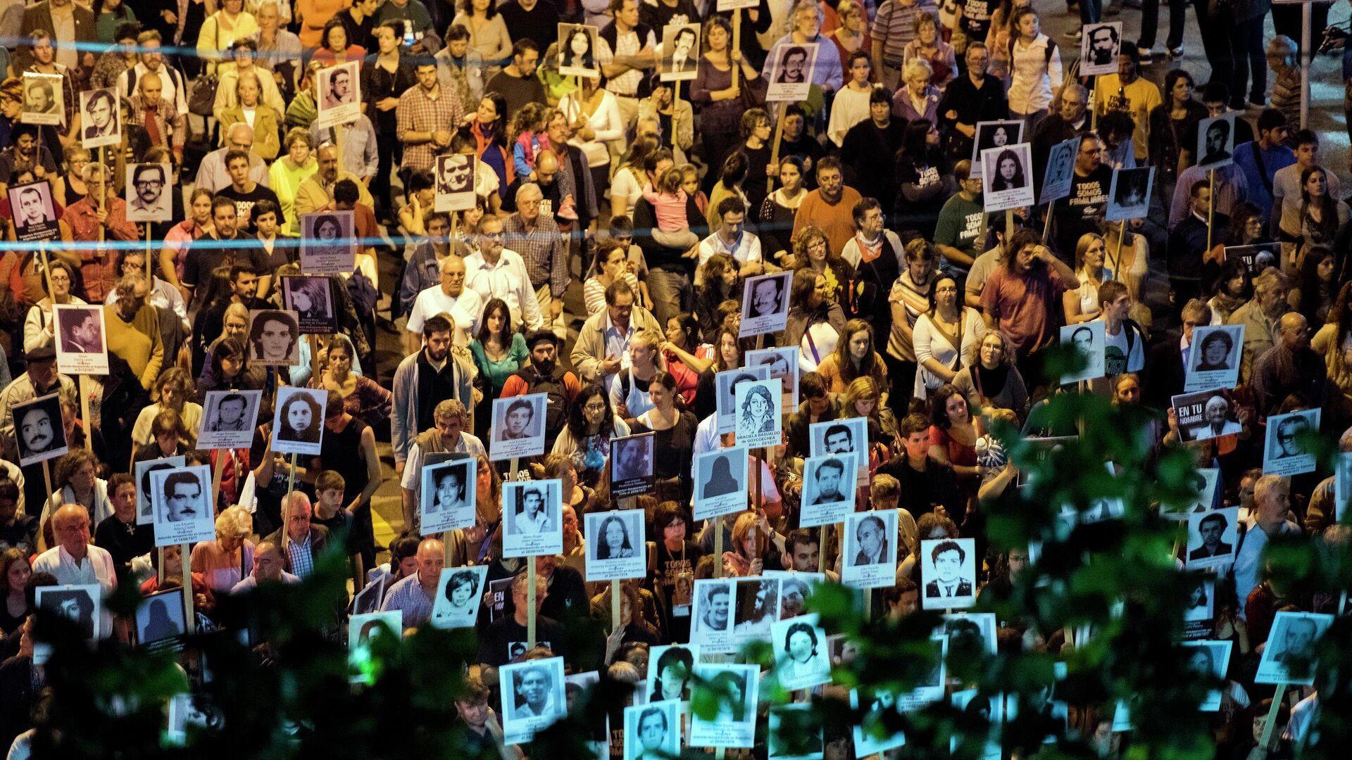 Marcha de silencio en conmemoración de las víctimas de la ditadura en Uruguay - Sputnik Mundo, 1920, 20.05.2021