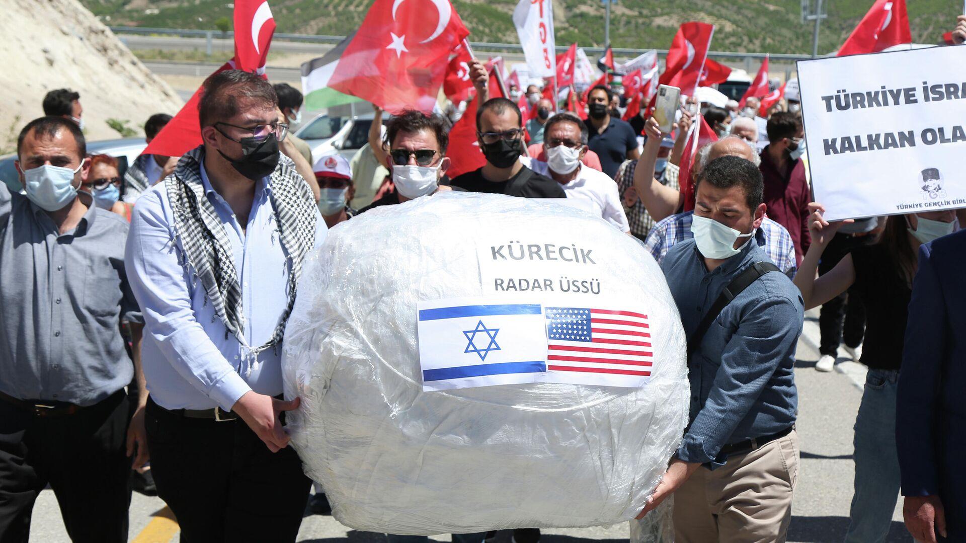 La manifestación cerca del radar Kurecik, en el este de Turquía - Sputnik Mundo, 1920, 20.05.2021