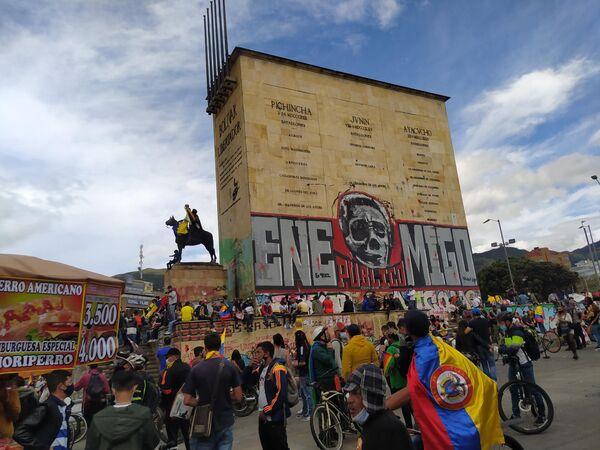 Protestas en Bogotá - Sputnik Mundo