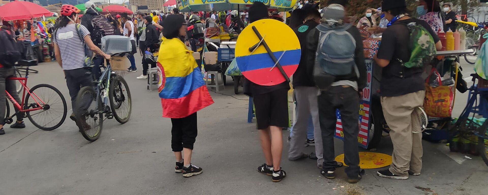 Protestas en Bogotá - Sputnik Mundo, 1920, 27.08.2021