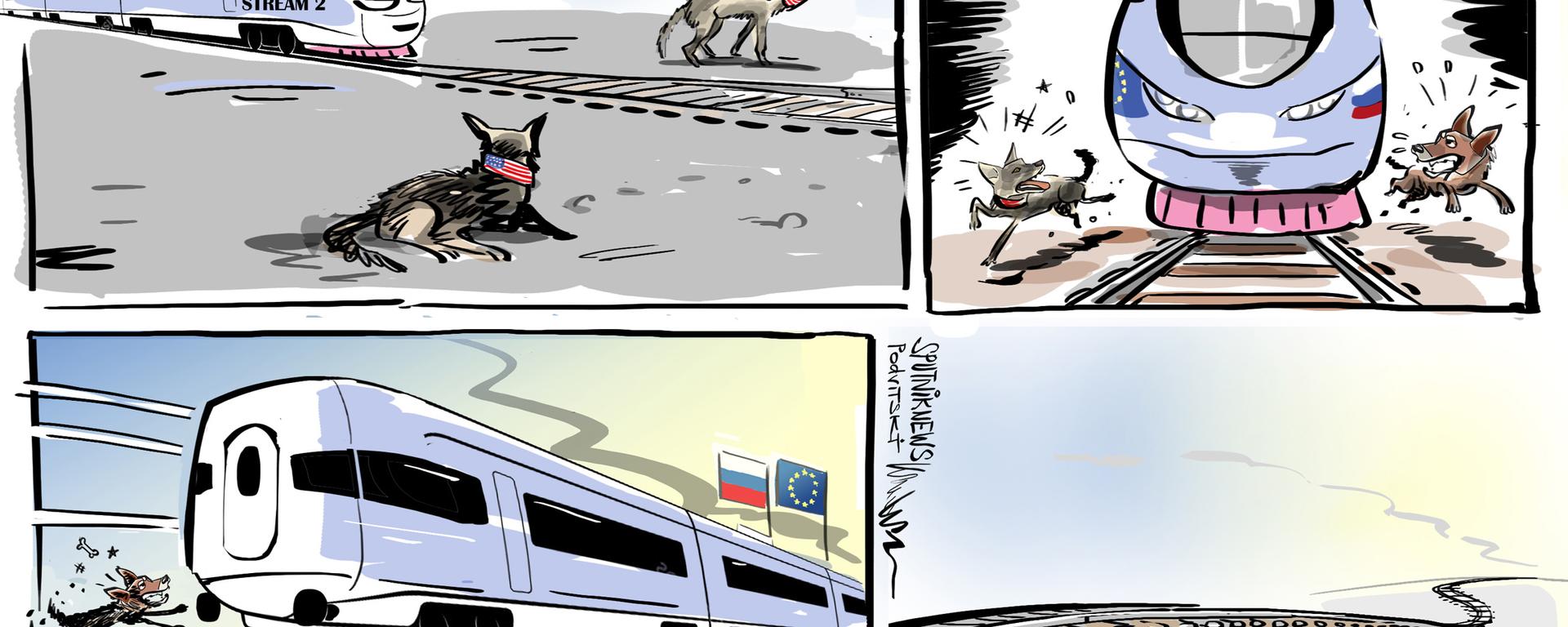 'Los perros ladran, pero la caravana avanza': Rusia construye el Nord Stream diga lo que diga EEUU - Sputnik Mundo, 1920, 20.05.2021