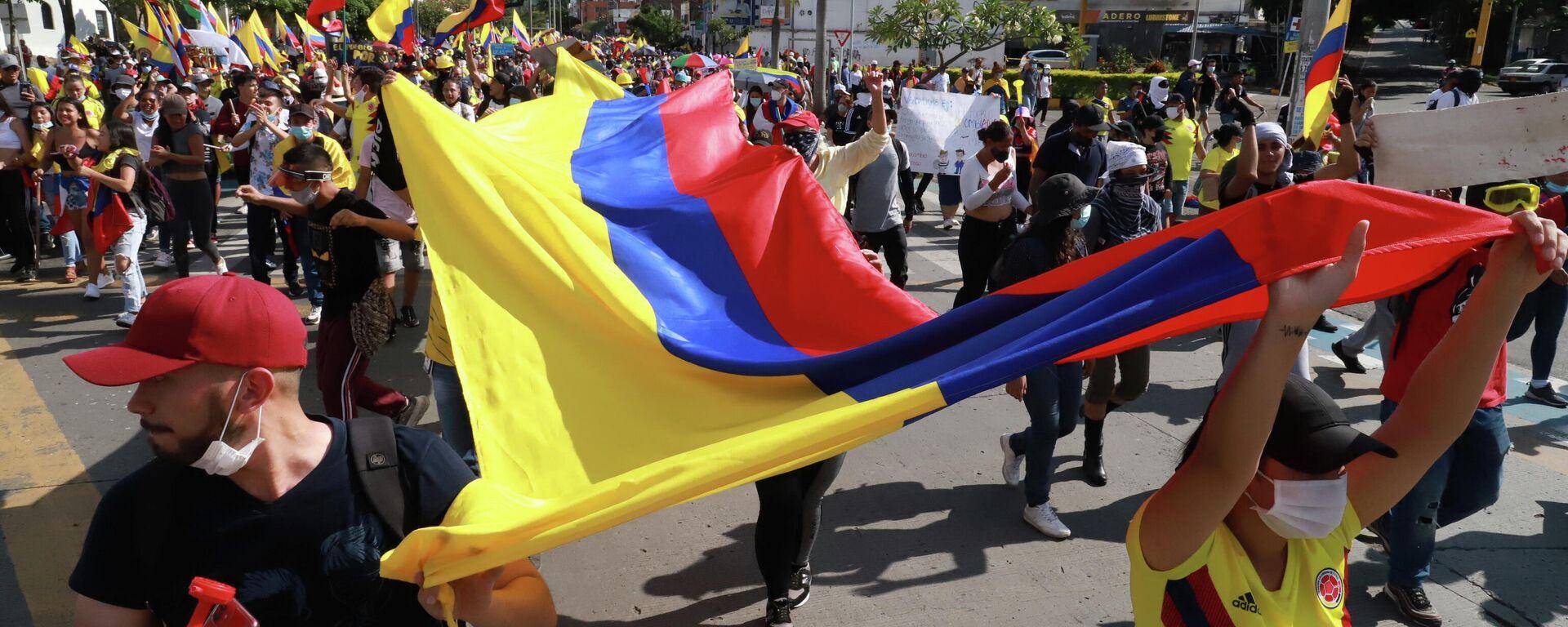 Protestas en Cali, Colombia - Sputnik Mundo, 1920, 20.05.2021