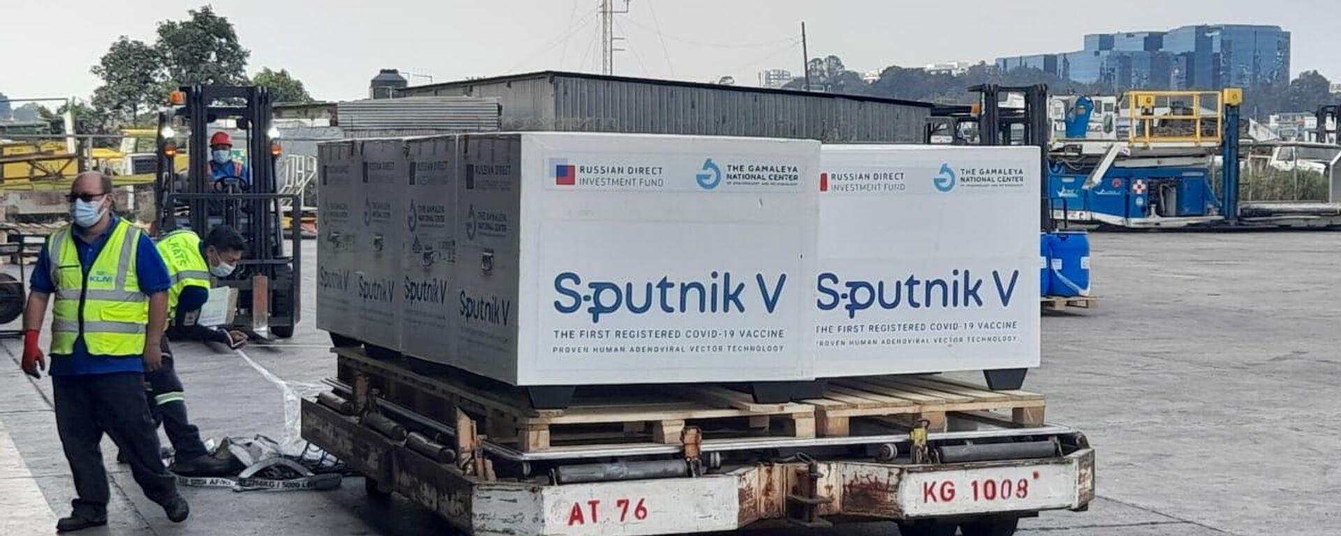 Llegada del cargamento de Sputnik V a Guatemala - Sputnik Mundo, 1920, 20.05.2021