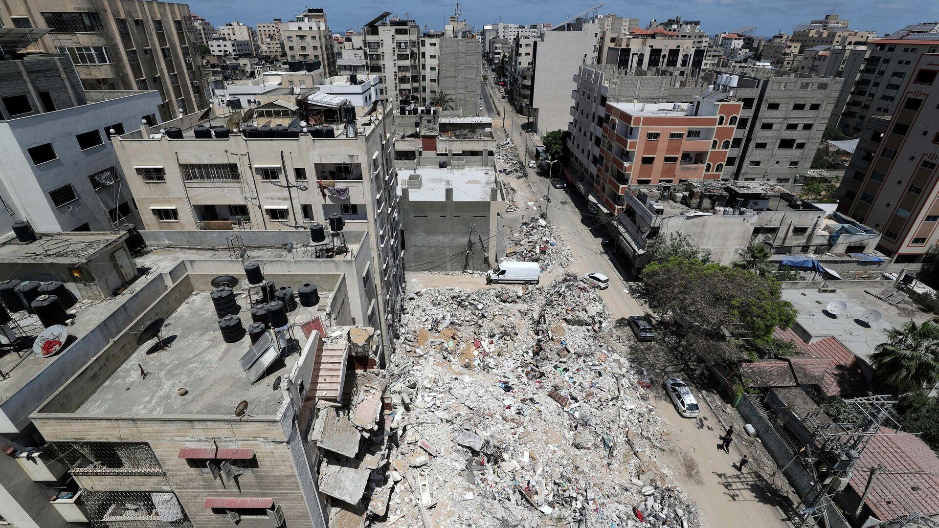 Edificios destruidos en la Franja de Gaza - Sputnik Mundo, 1920, 21.05.2021