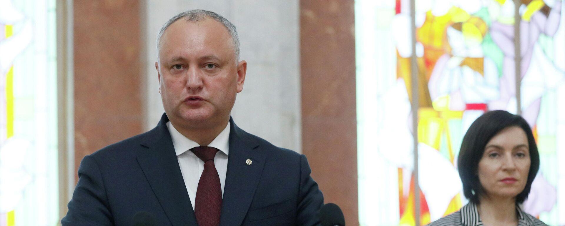 Igor Dodon, líder del Partido de Socialistas de la República de Moldavia (PSRM) y exmandatario del país - Sputnik Mundo, 1920, 21.05.2021