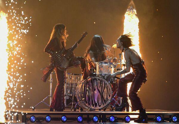 El grupo italiano Maneskin en Eurovisión 2021. - Sputnik Mundo