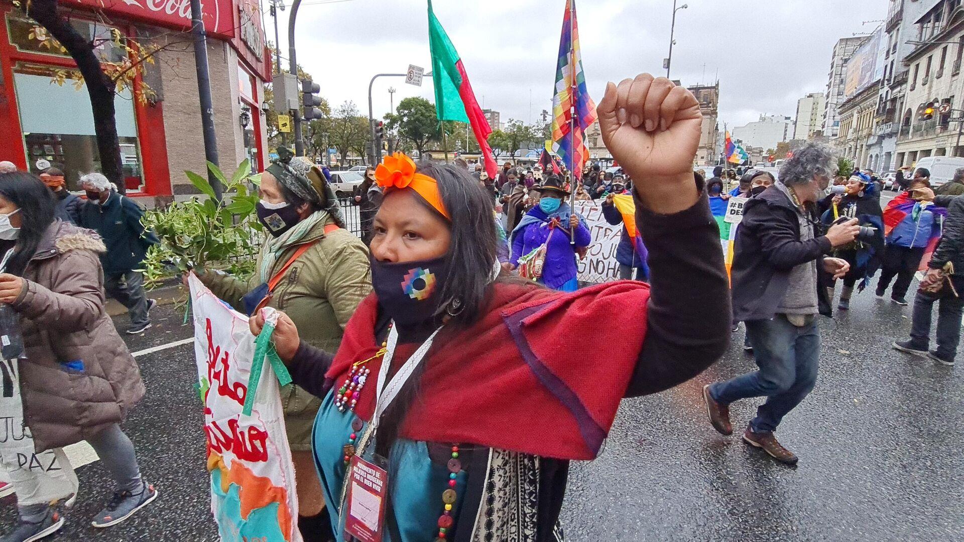 Integrantes del Movimiento de Mujeres Indígenas por el Buen Vivir reclaman por la protección de sus ecosistemas y las condiciones de vida de sus comunidades - Sputnik Mundo, 1920, 23.05.2021