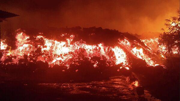 La erupción de Nyiragongo en la ciudad congoleña de Goma, el 22 de mayo de 2021. - Sputnik Mundo