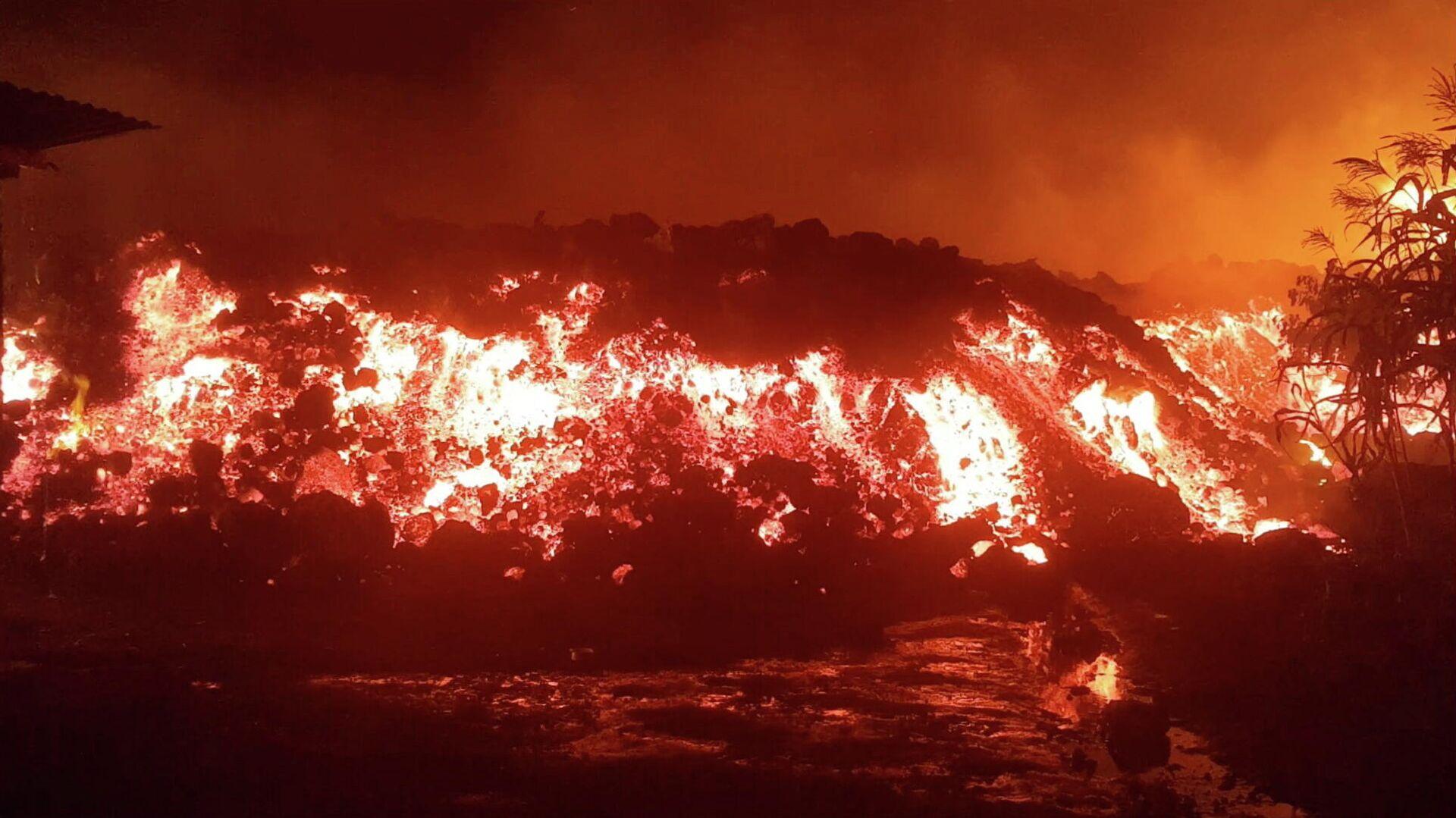 La erupción de Nyiragongo, el 22 de mayo de 2021 - Sputnik Mundo, 1920, 23.05.2021