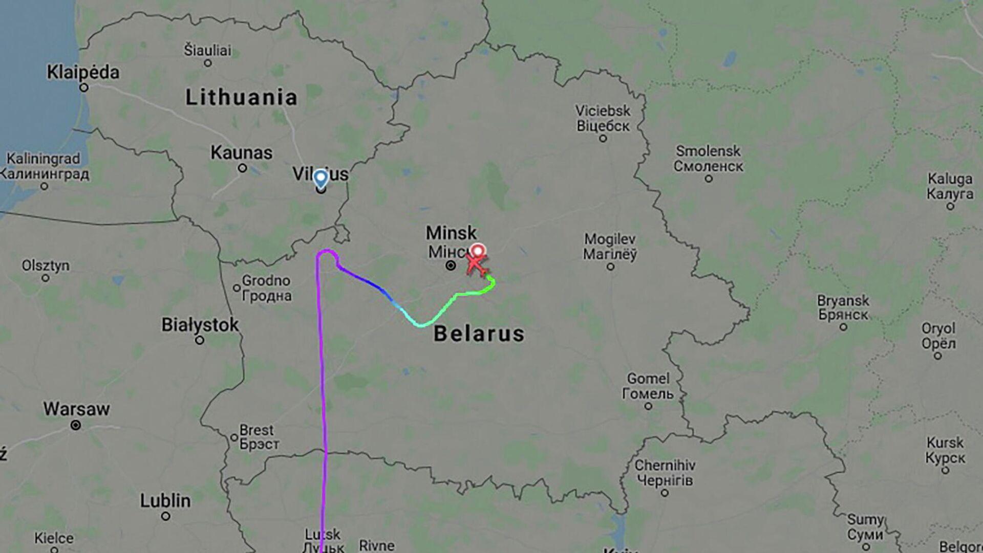 Trayecto del avión de Ryanair  - Sputnik Mundo, 1920, 27.05.2021