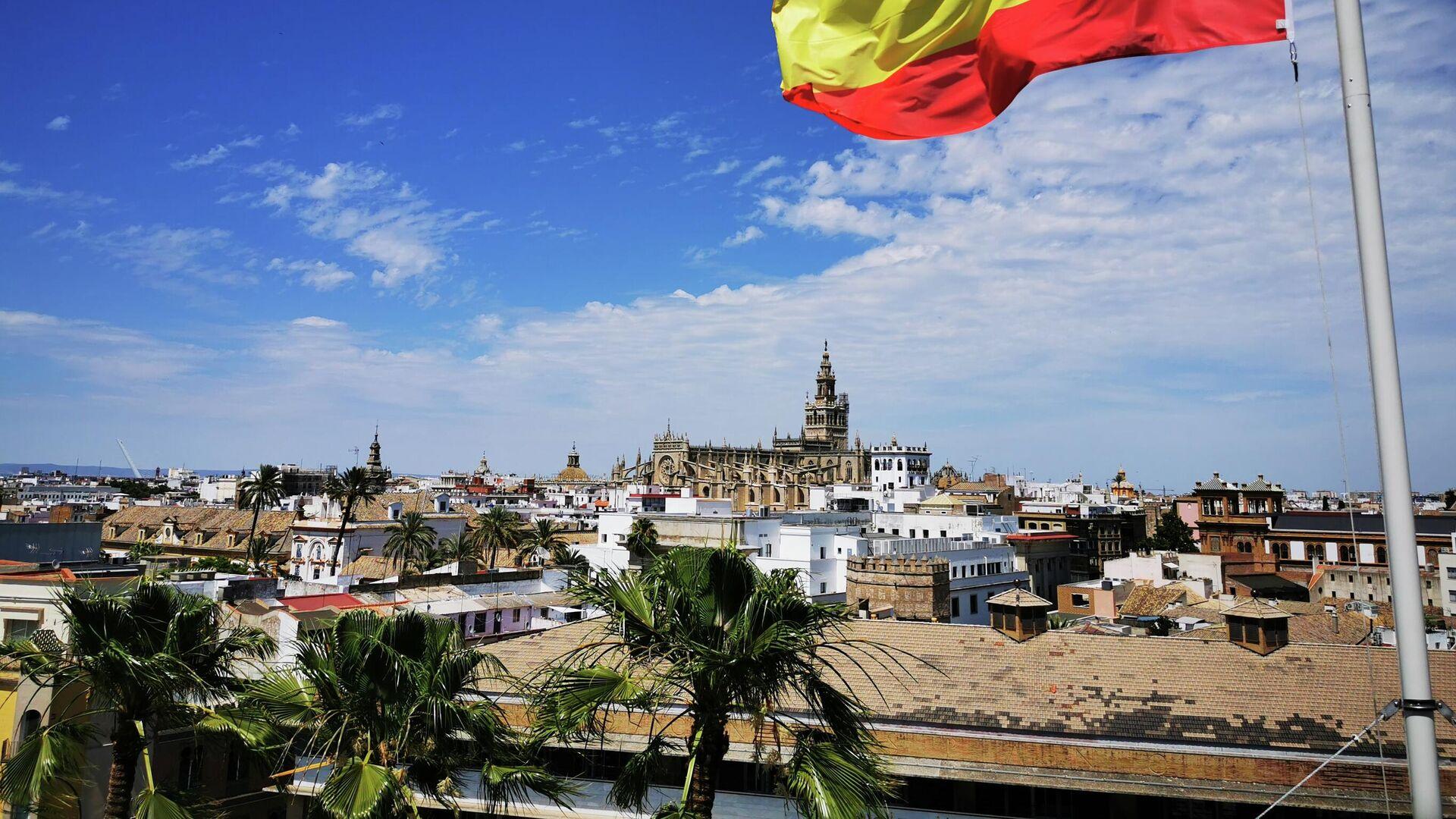 Bandera española en Sevilla, España - Sputnik Mundo, 1920, 24.05.2021