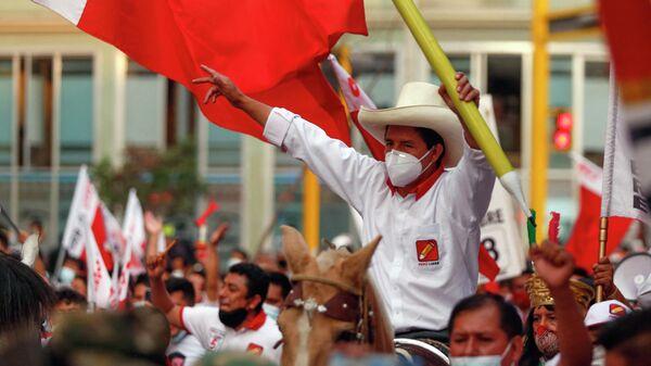 Pedro Castillo, candidato presidencial del partido Perú Libre - Sputnik Mundo