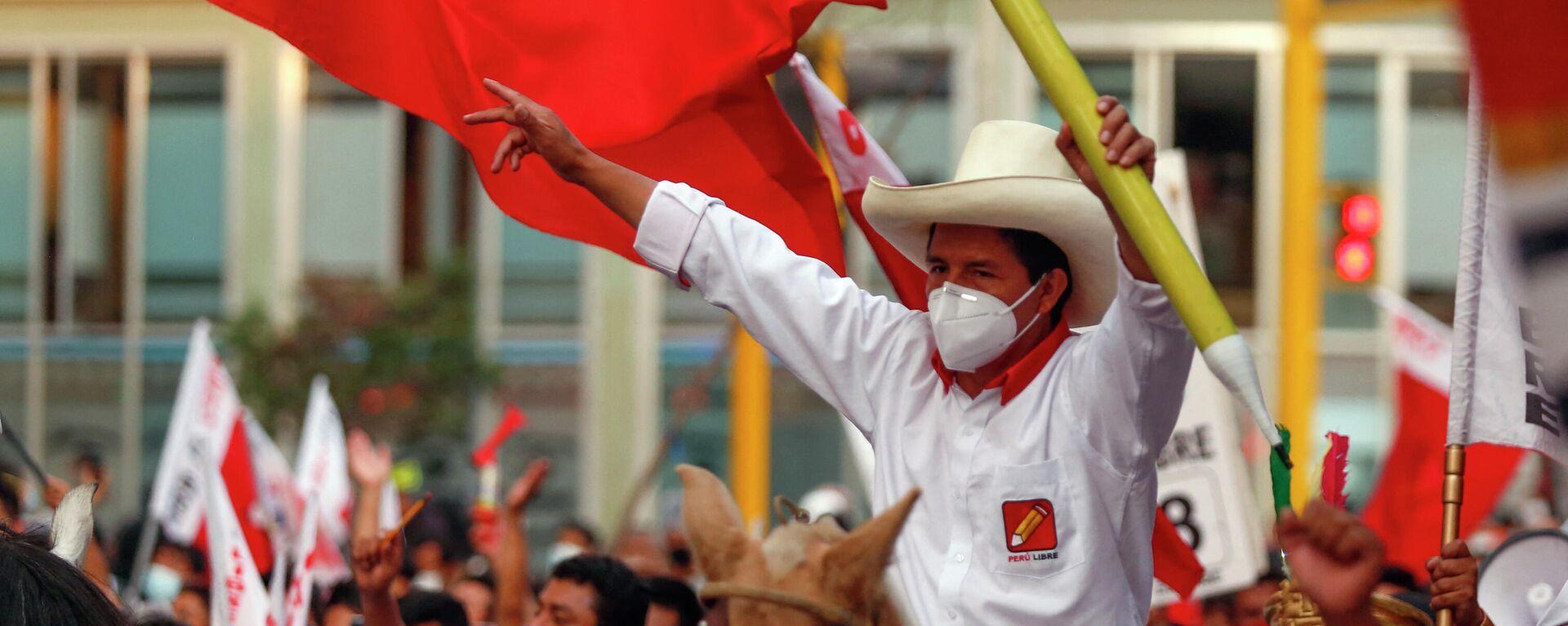 Pedro Castillo, candidato presidencial del partido Perú Libre - Sputnik Mundo, 1920, 25.05.2021