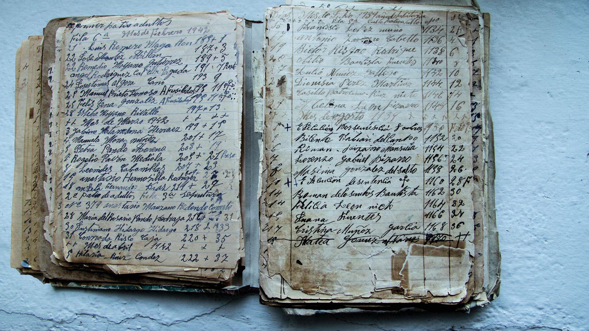 Libro de enterramientos en Almadén (Ciudad Real) - Sputnik Mundo, 1920, 25.05.2021