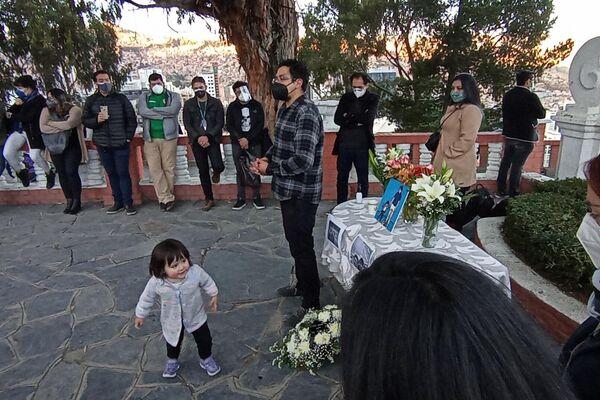 Homenaje a Boris Miranda, en el Montículo de Sopocachi, La Paz - Sputnik Mundo