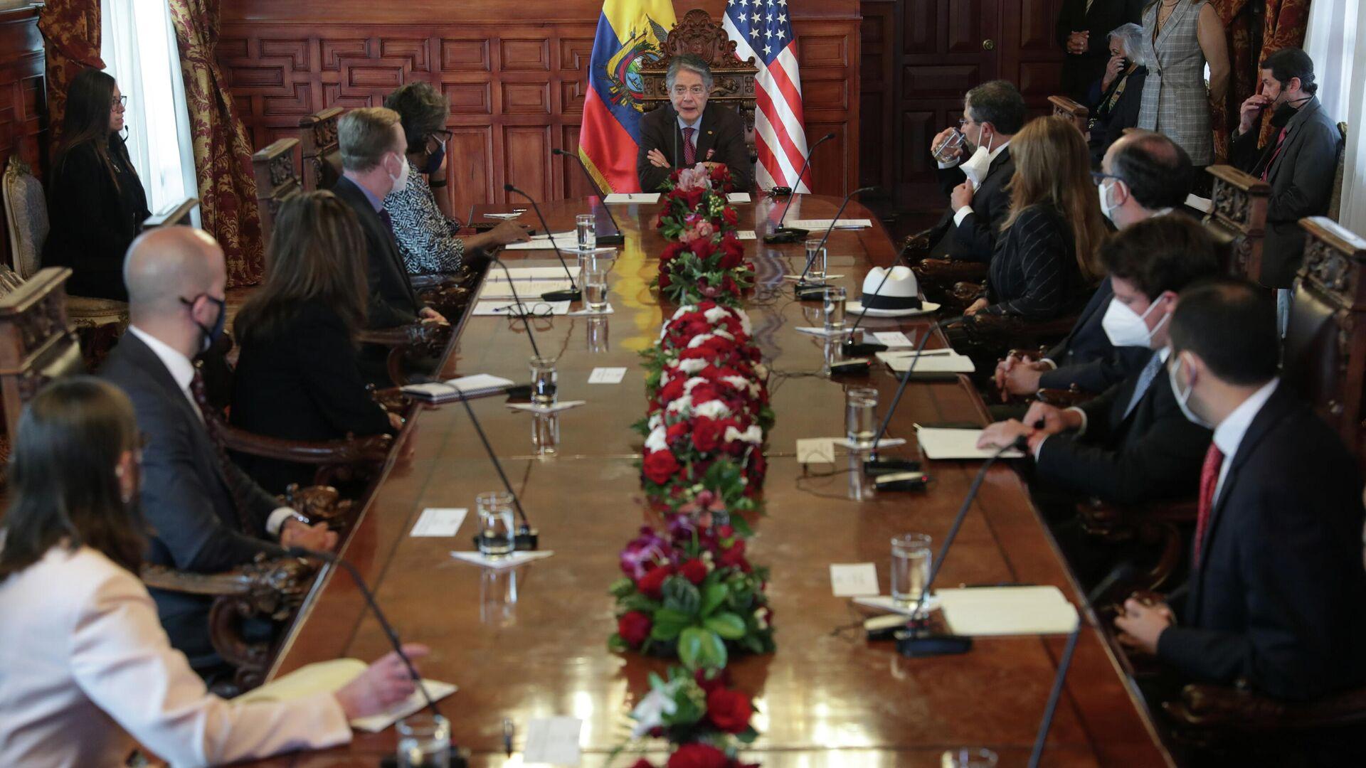 Presidente de Ecuador, Guillermo Lasso, recibe a delegación de EEUU  - Sputnik Mundo, 1920, 25.05.2021