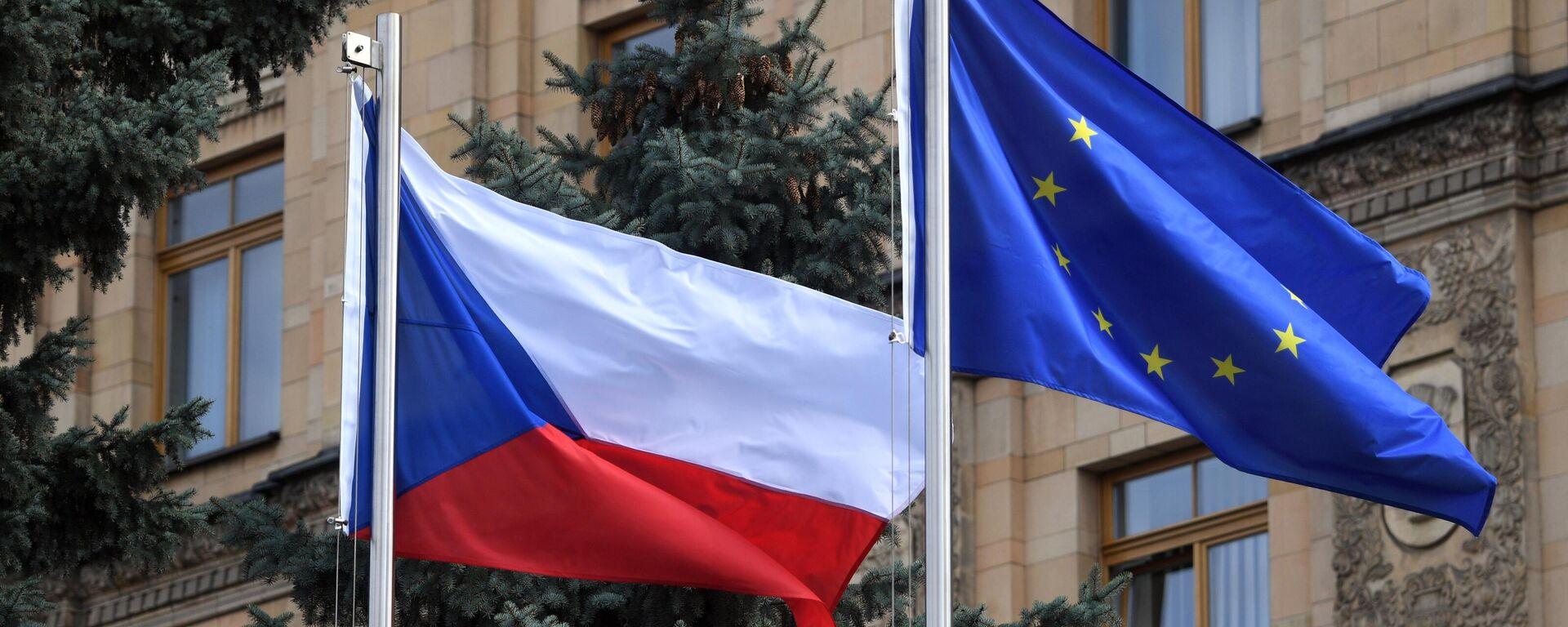Banderas de la República Checa en Moscú - Sputnik Mundo, 1920, 26.05.2021