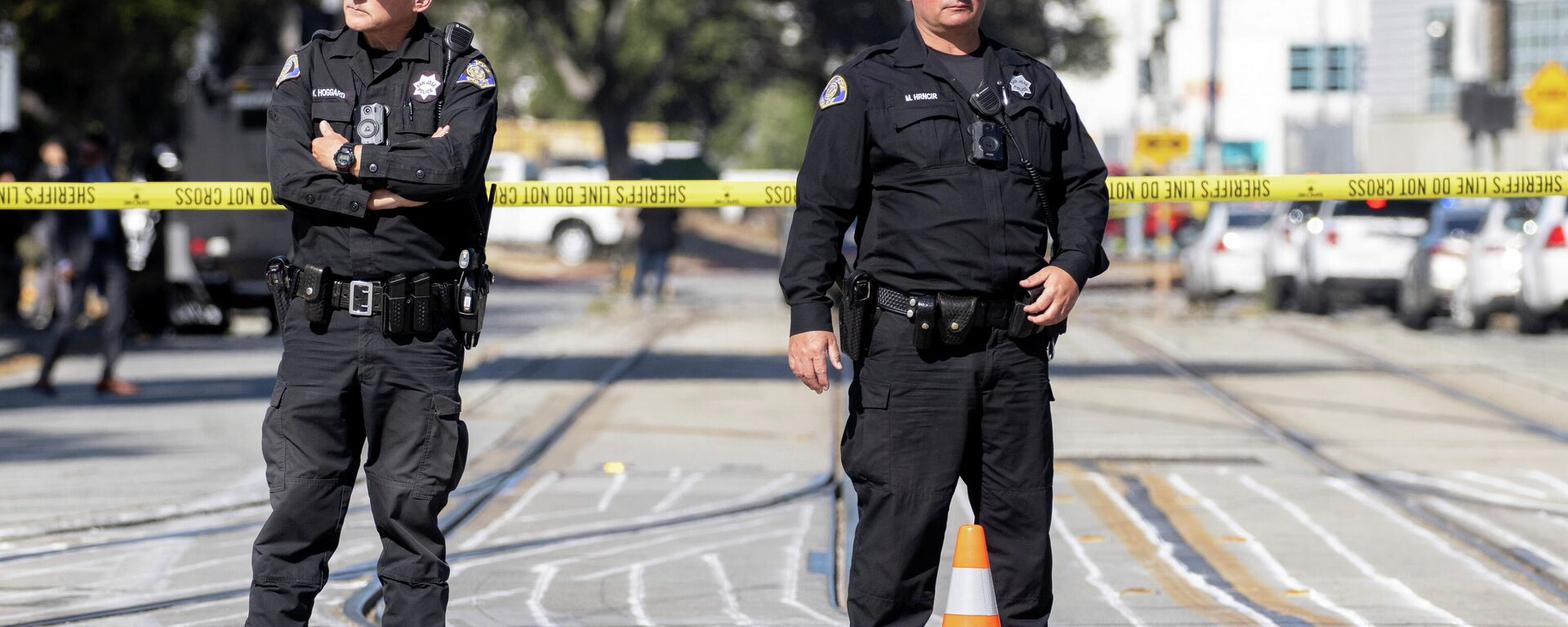 Policía en el lugar del tiroteo en San José, EEUU - Sputnik Mundo, 1920, 26.05.2021
