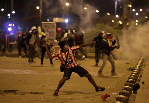 La oficina capitalina de la Cruz Roja Colombiana informó que atendió a 139 personas en las manifestaciones de la capital. - Sputnik Mundo