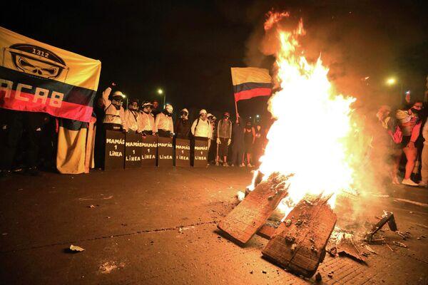Los incidentes sucedieron en particular en la localidad de Usme, en el suroriente de Bogotá. - Sputnik Mundo
