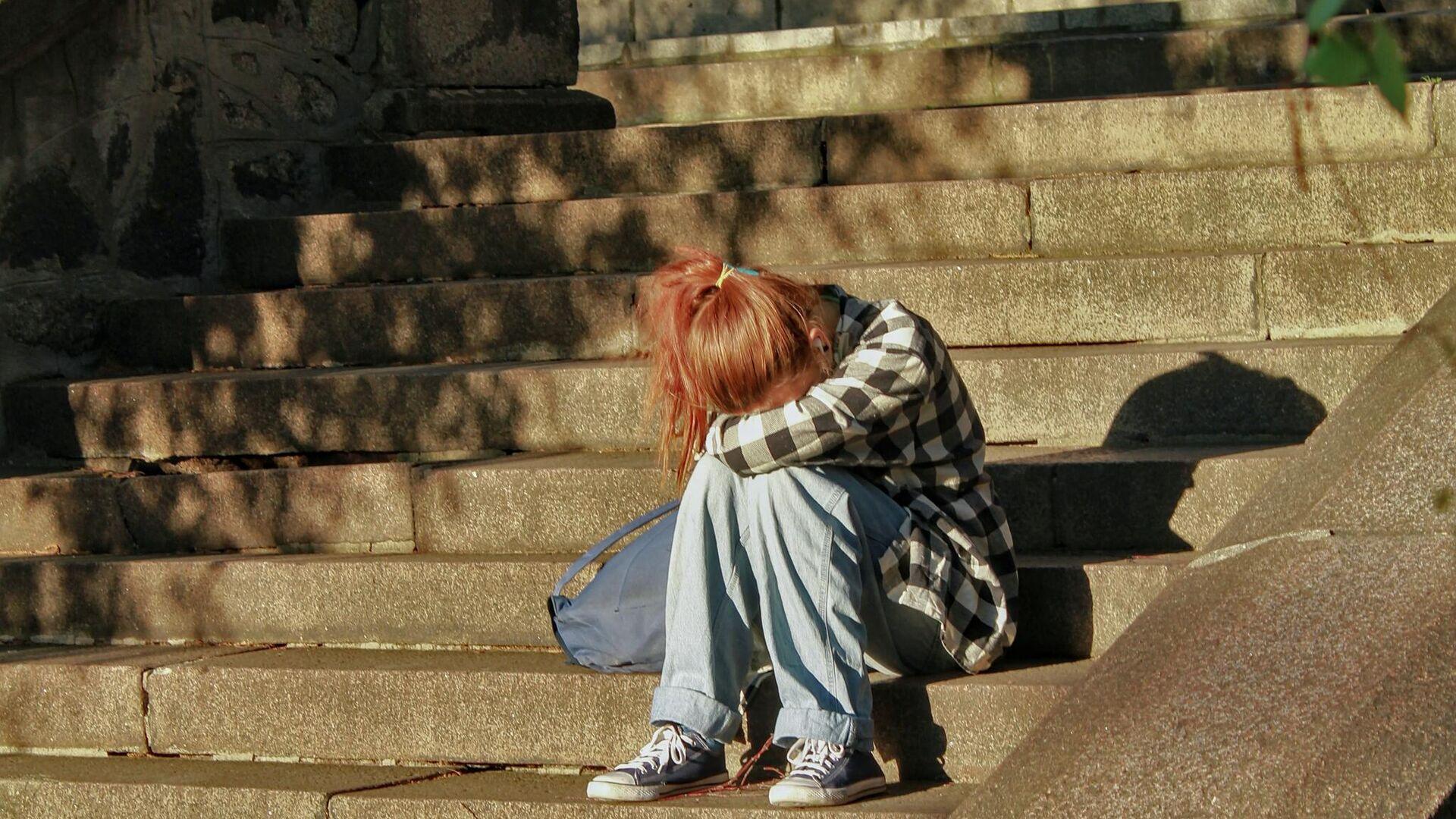 Una chica llorando (imagen referencial) - Sputnik Mundo, 1920, 27.05.2021
