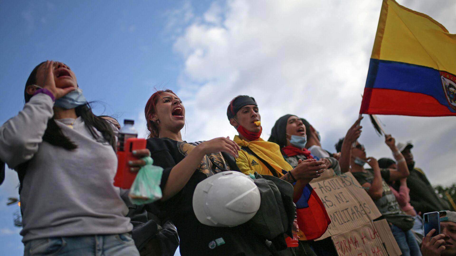 Protestas en Bogotá , Colombia - Sputnik Mundo, 1920, 27.05.2021