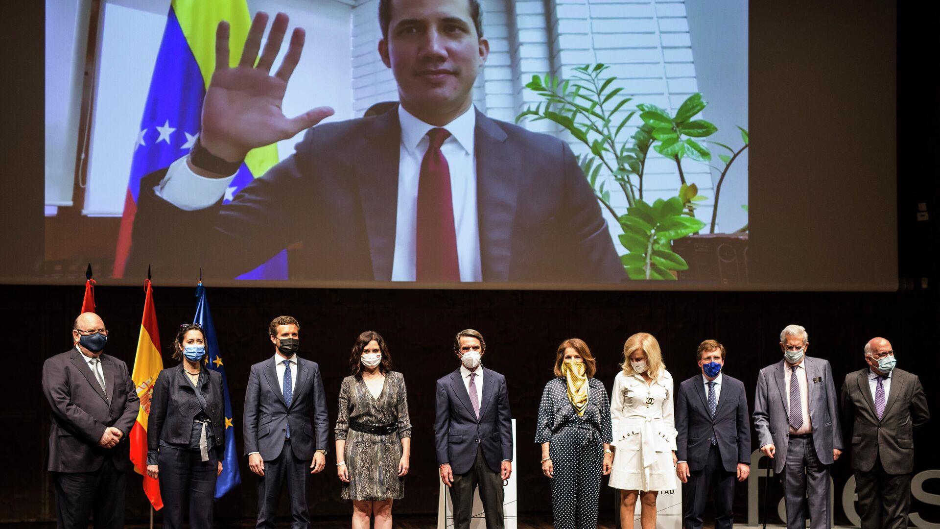 Acto de entrega del Premio FAES de la Libertad a Juan Guaidó - Sputnik Mundo, 1920, 28.05.2021