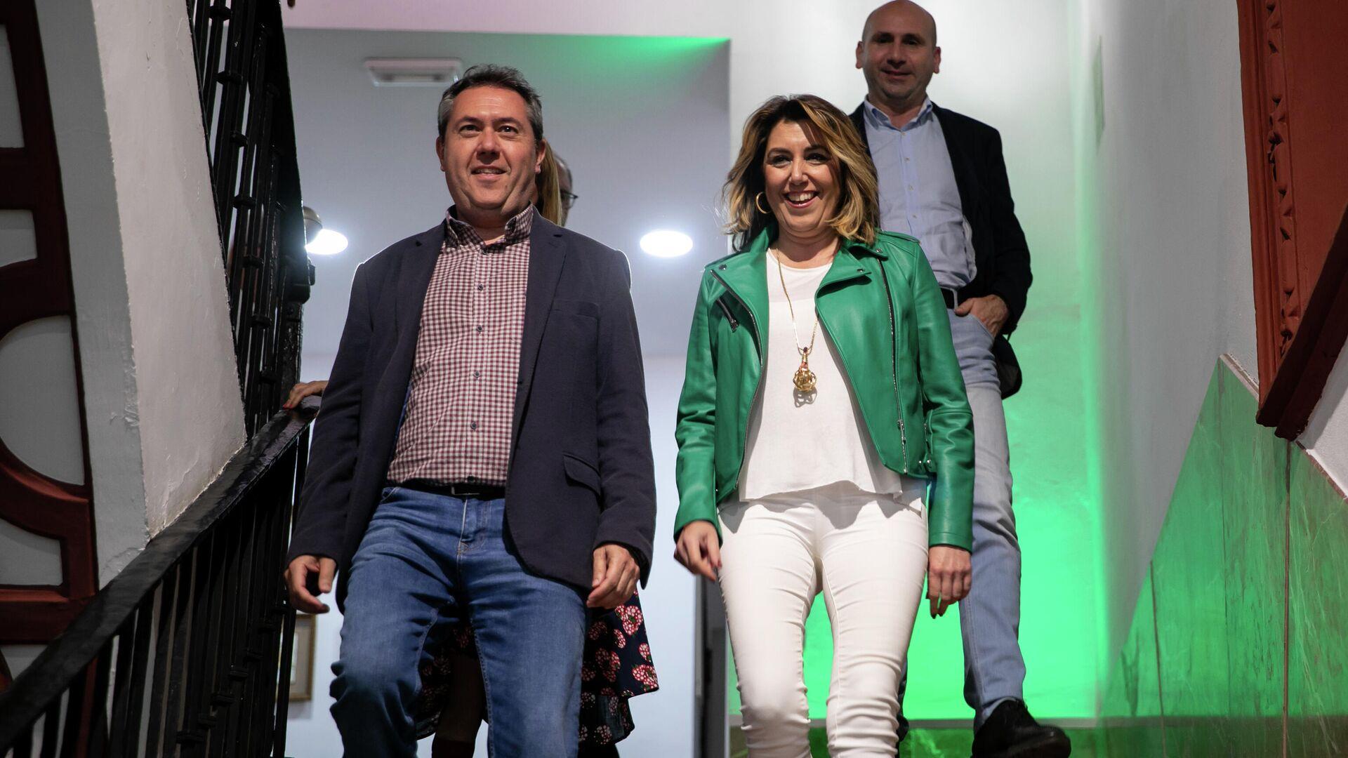 Susana Díaz y Juan Espadas en la sede socialista - Sputnik Mundo, 1920, 28.05.2021