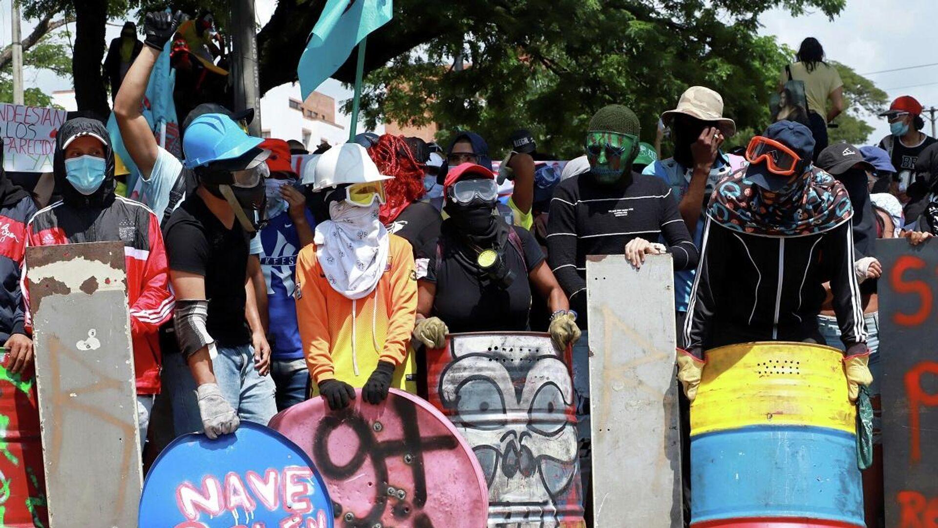 Protestas en la ciudad de Cali, Colombia - Sputnik Mundo, 1920, 01.06.2021