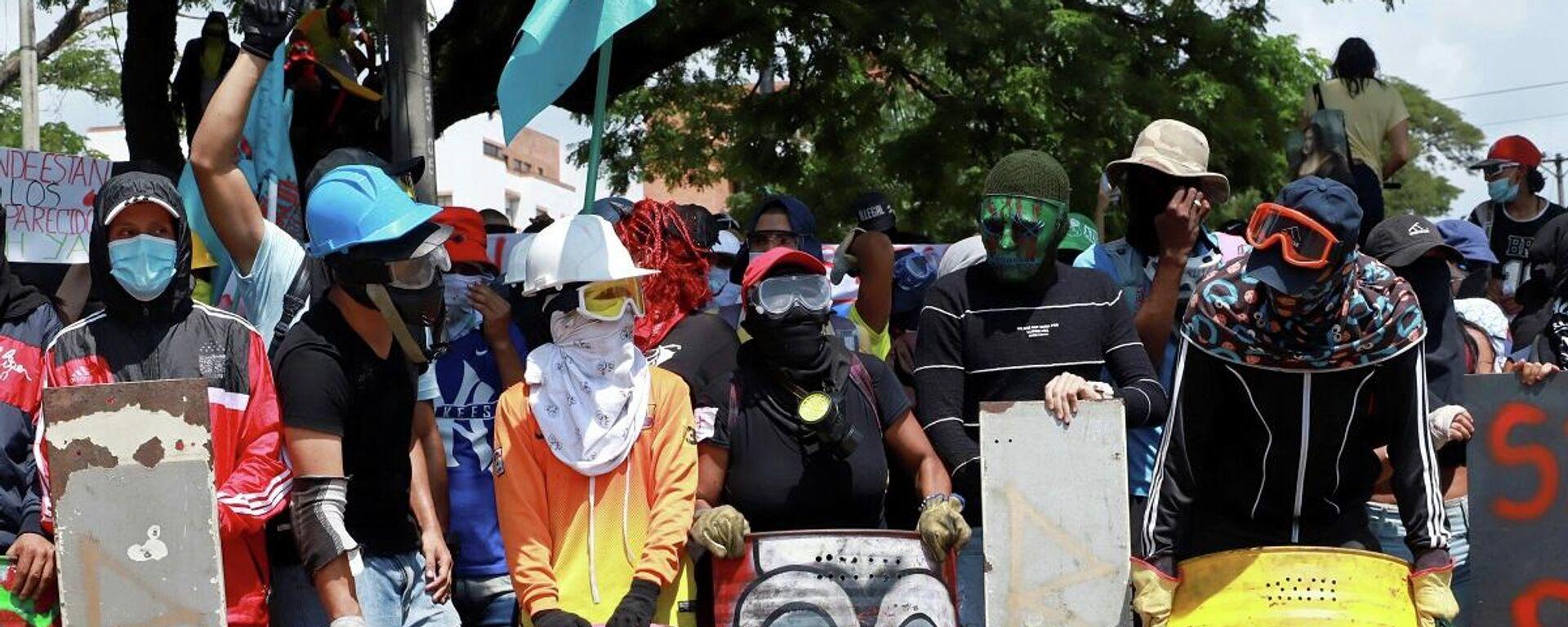 Protestas en la ciudad de Cali, Colombia - Sputnik Mundo, 1920, 29.05.2021