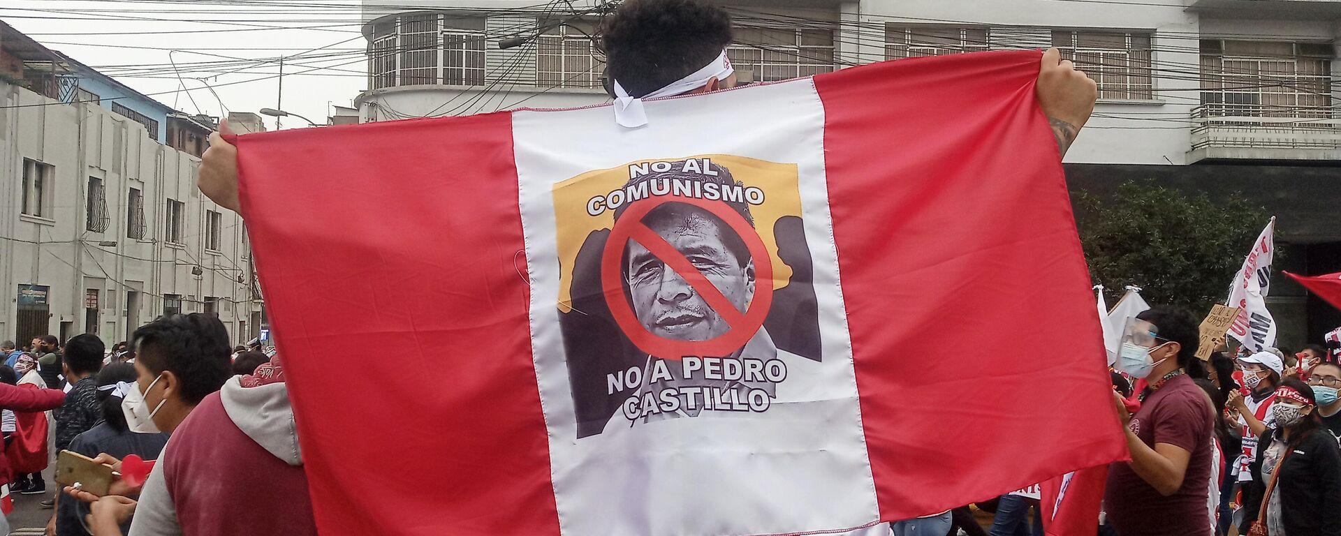 Marcha contra el comunismo y Castillo en Lima - Sputnik Mundo, 1920, 21.07.2021