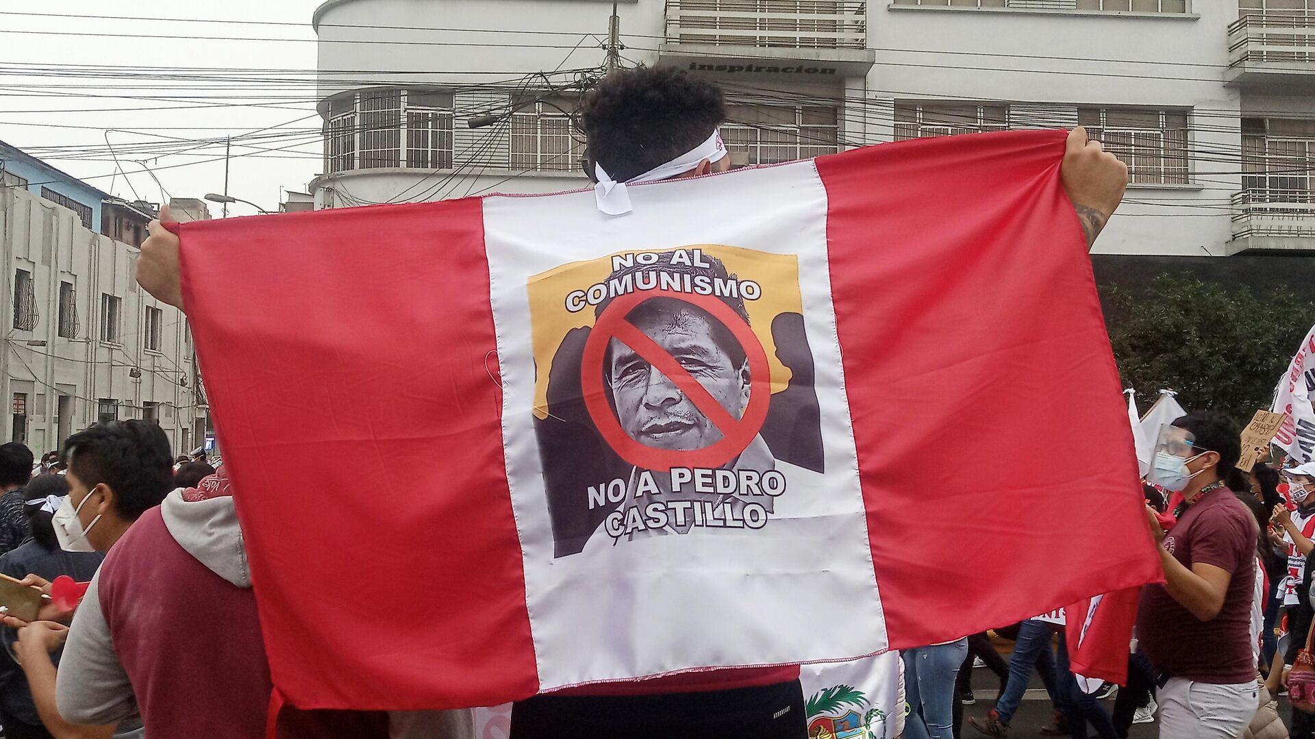 Marcha contra el comunismo y Castillo en Lima - Sputnik Mundo, 1920, 30.05.2021