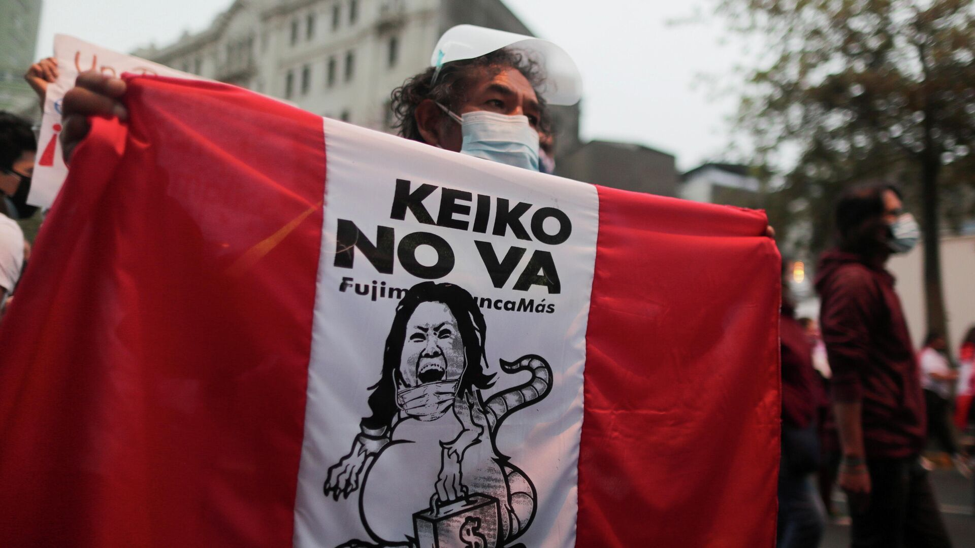 Marcha contra candidatura de Keiko Fujimori (Archivo) - Sputnik Mundo, 1920, 24.06.2021