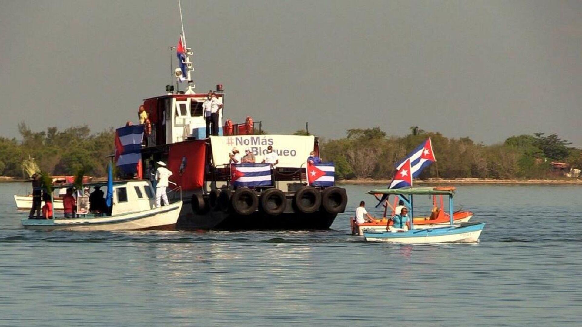 Regata contra el bloqueo, una de las iniciativas en Cienfuegos contra el bloqueo impuesto a Cuba por Estados Unidos - Sputnik Mundo, 1920, 01.06.2021