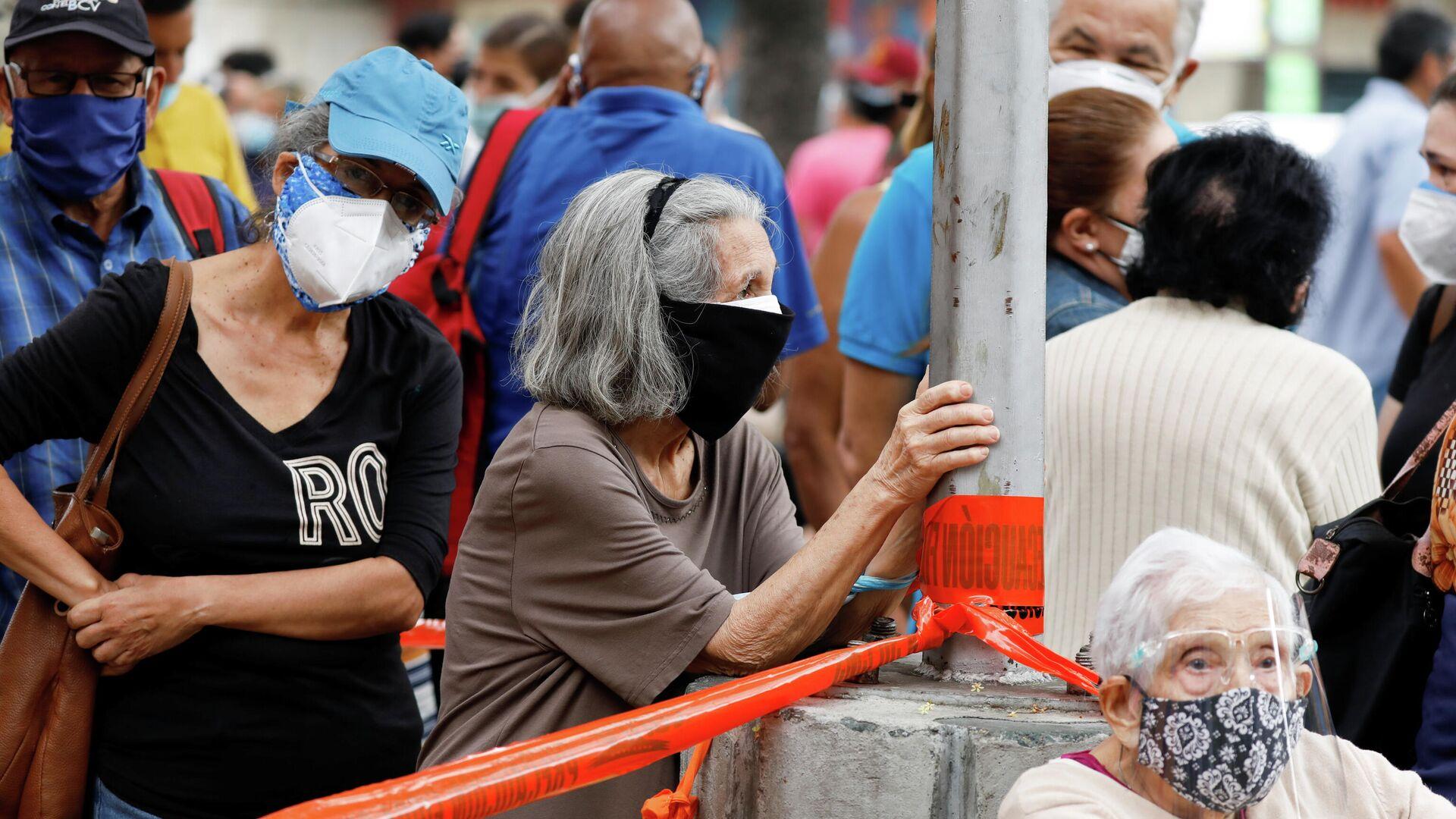 Filas para vacunarse en Caracas - Sputnik Mundo, 1920, 01.06.2021