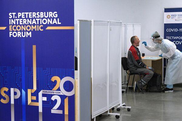 La preparación para el Foro Económico Internacional de San Petersburgo (SPIEF) 2021 - Sputnik Mundo