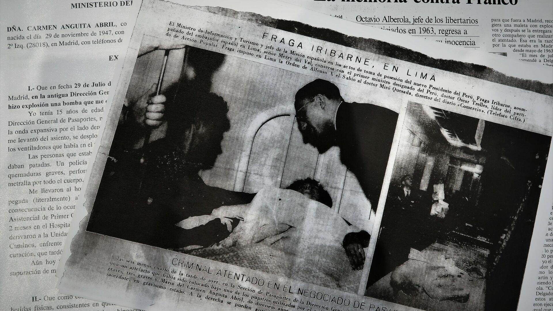 Recortes de prensa y documentos sobre el atentado de Carmen Anguita, víctima de terrorismo en España - Sputnik Mundo, 1920, 01.06.2021