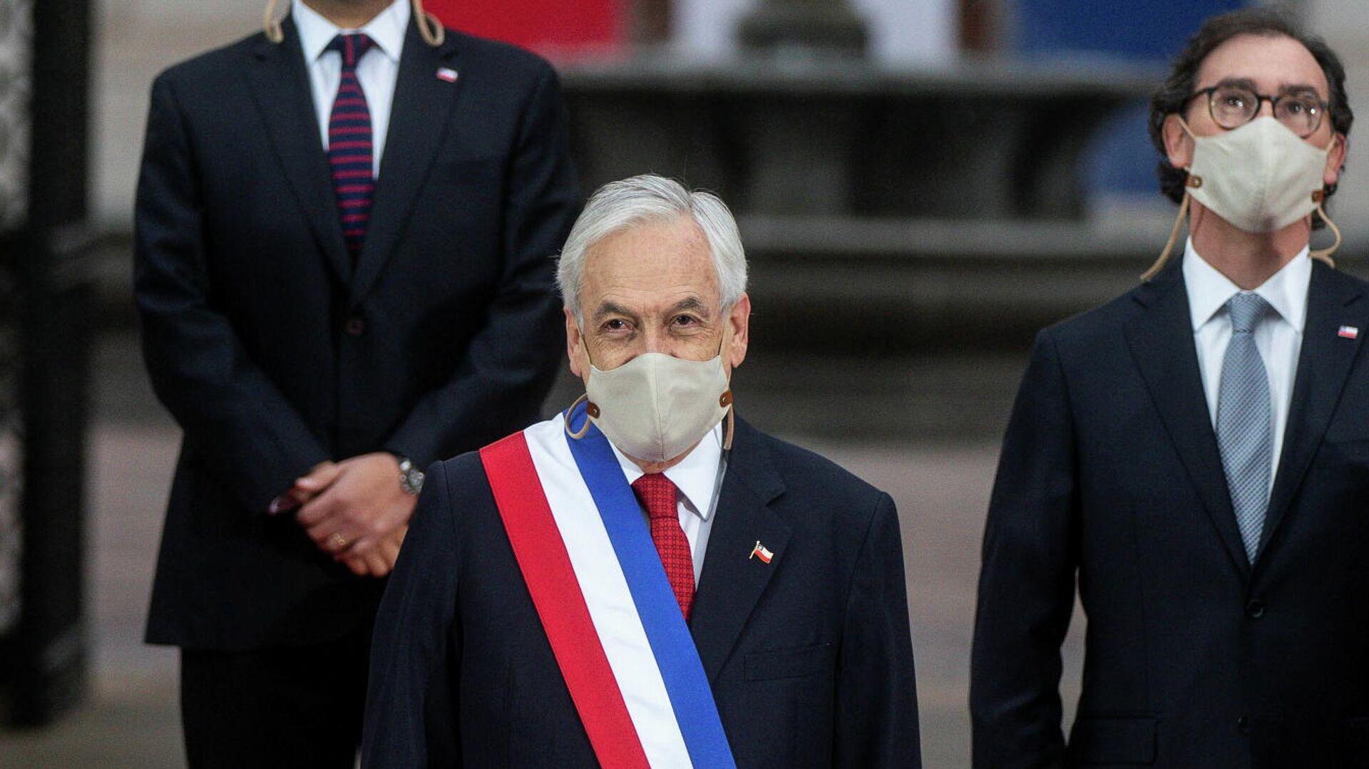 Sebastián Piñera, presidente de Chile, antes de su última cuenta pública, en Santiago, el 1 de junio del 2021 - Sputnik Mundo, 1920, 01.06.2021