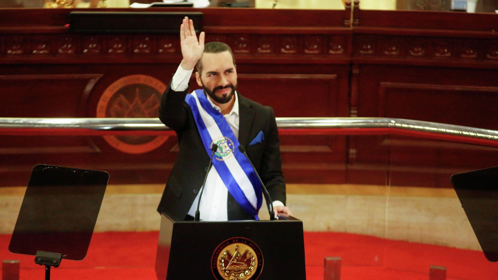 Nayib Bukele, presidente de El Salvador, en la Asamblea Legislativa - Sputnik Mundo, 1920, 02.06.2021