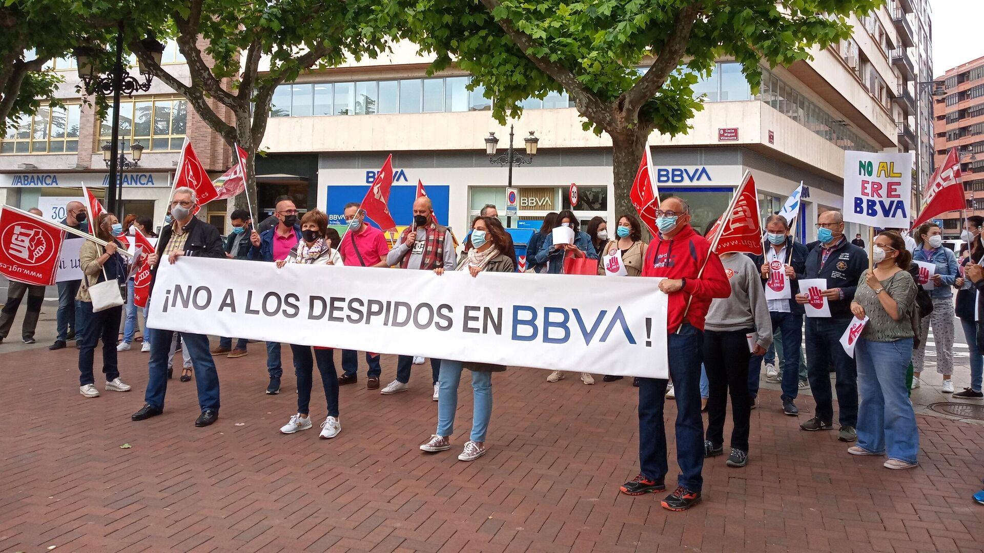 La huelga de los trabajadores de BBVA - Sputnik Mundo, 1920, 02.06.2021